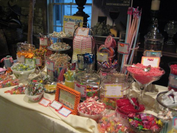 Candy Bar Ideas For Wedding Reception