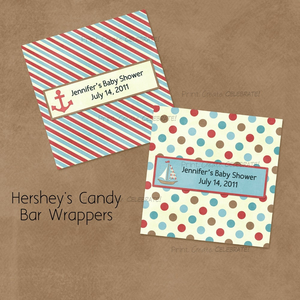 It is a photo of Resource Free Printable Baby Shower Candy Bar Wrappers