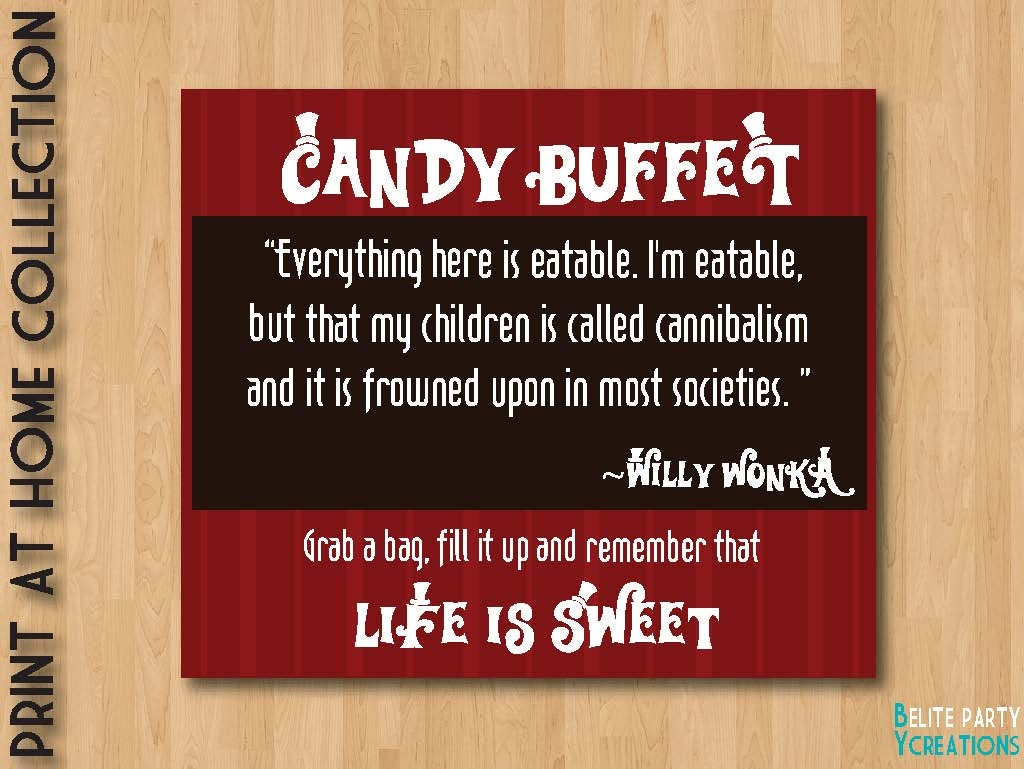 Candy Buffet Signs Printable