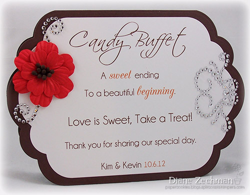 Candy Buffet Signs Templates