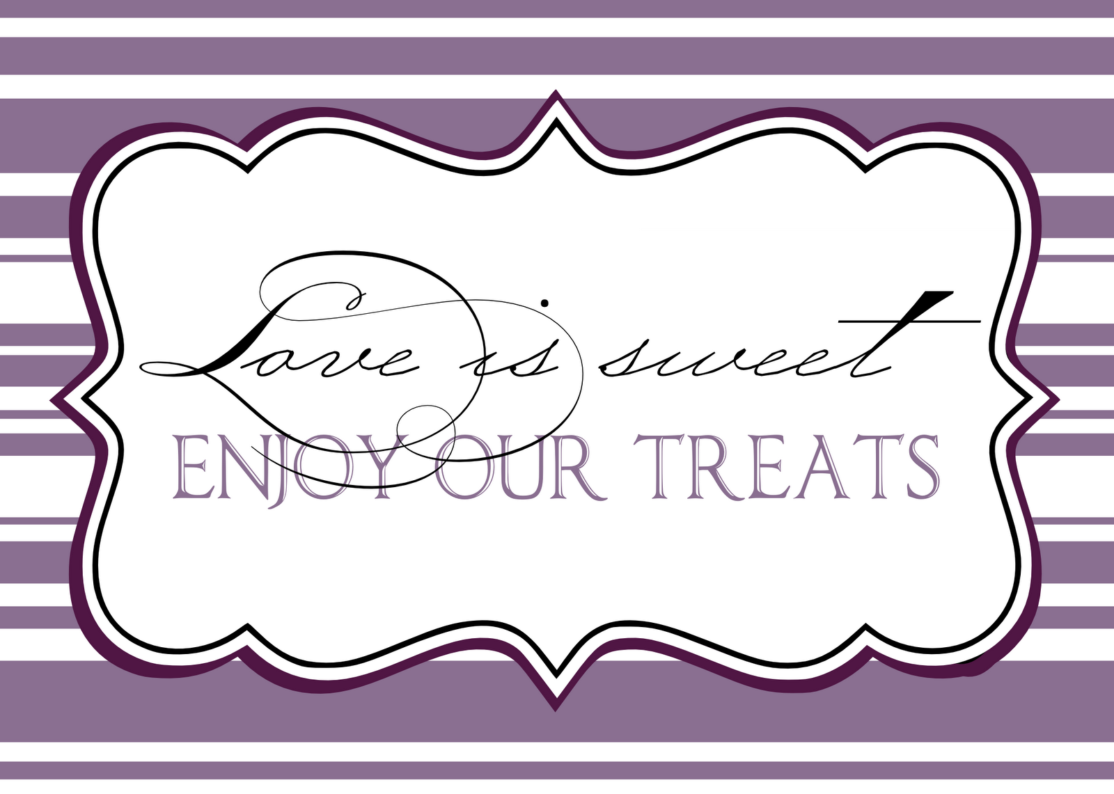 free printable sign templates - candy buffet signs templates