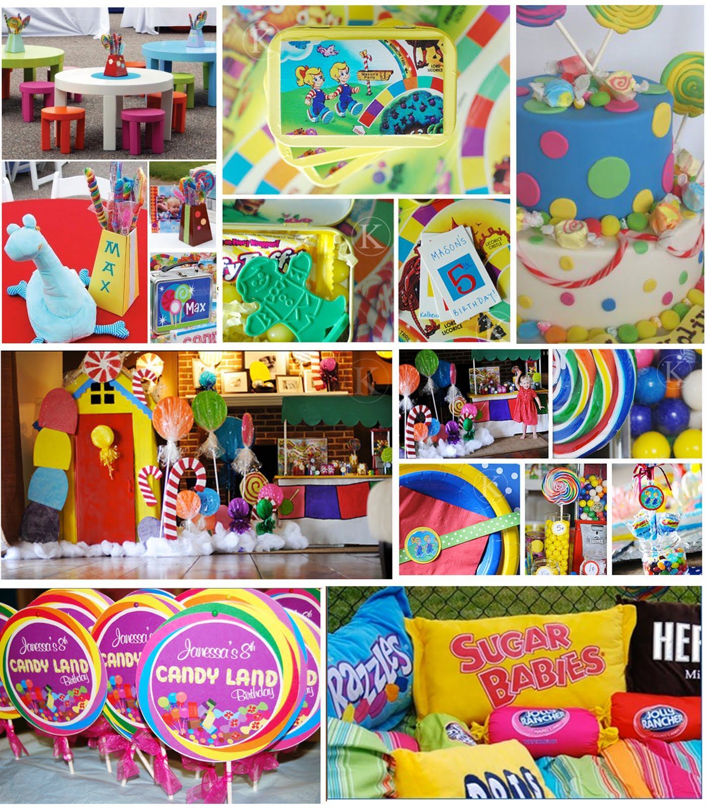 Candyland Party Theme Games