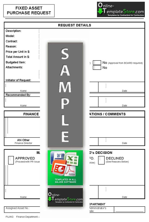 fixed assets register template