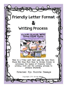 how to write a friendly letter for kids