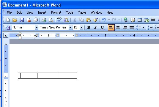how to create 2 columns in word 2003