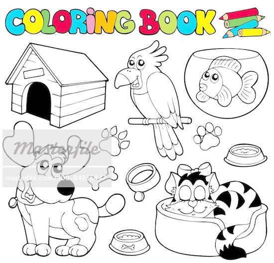 Line Drawing Pet Animals : How to draw a cartoon dog house