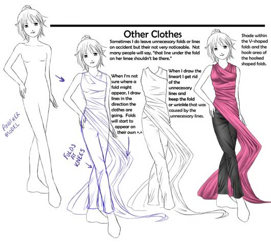 how to draw girl clothes step by step