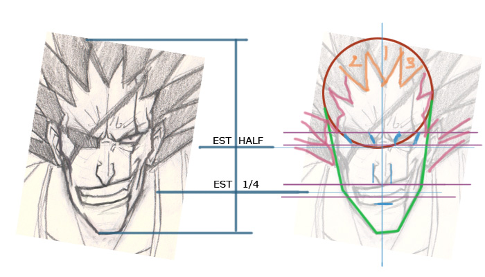 how to draw a manga face for beginners