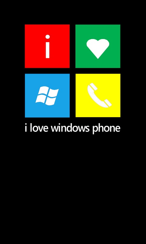 I Love Windows Phone Wallpaper